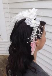 80s wedding hairpiece bridal hair