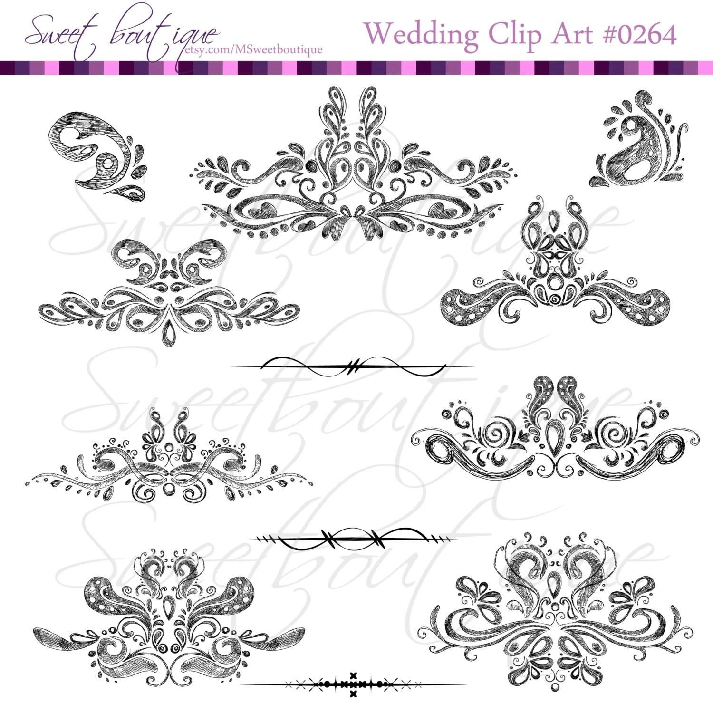 Black Pencil Digital Clip Arts Wedding Decorations Clip Art