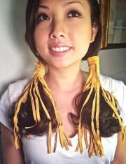 indian cherokee braids hair tie