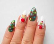 grinch stiletto nails christmas