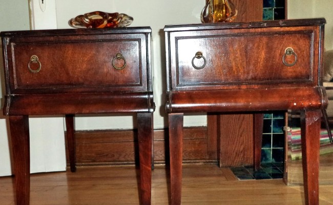 Pair Stickley Antique Tables Grand Rapids Night End Tables