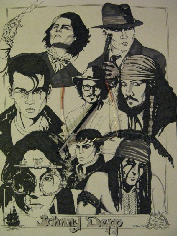 Johnny Depp Characters Limited Edition Detailed Fine Line