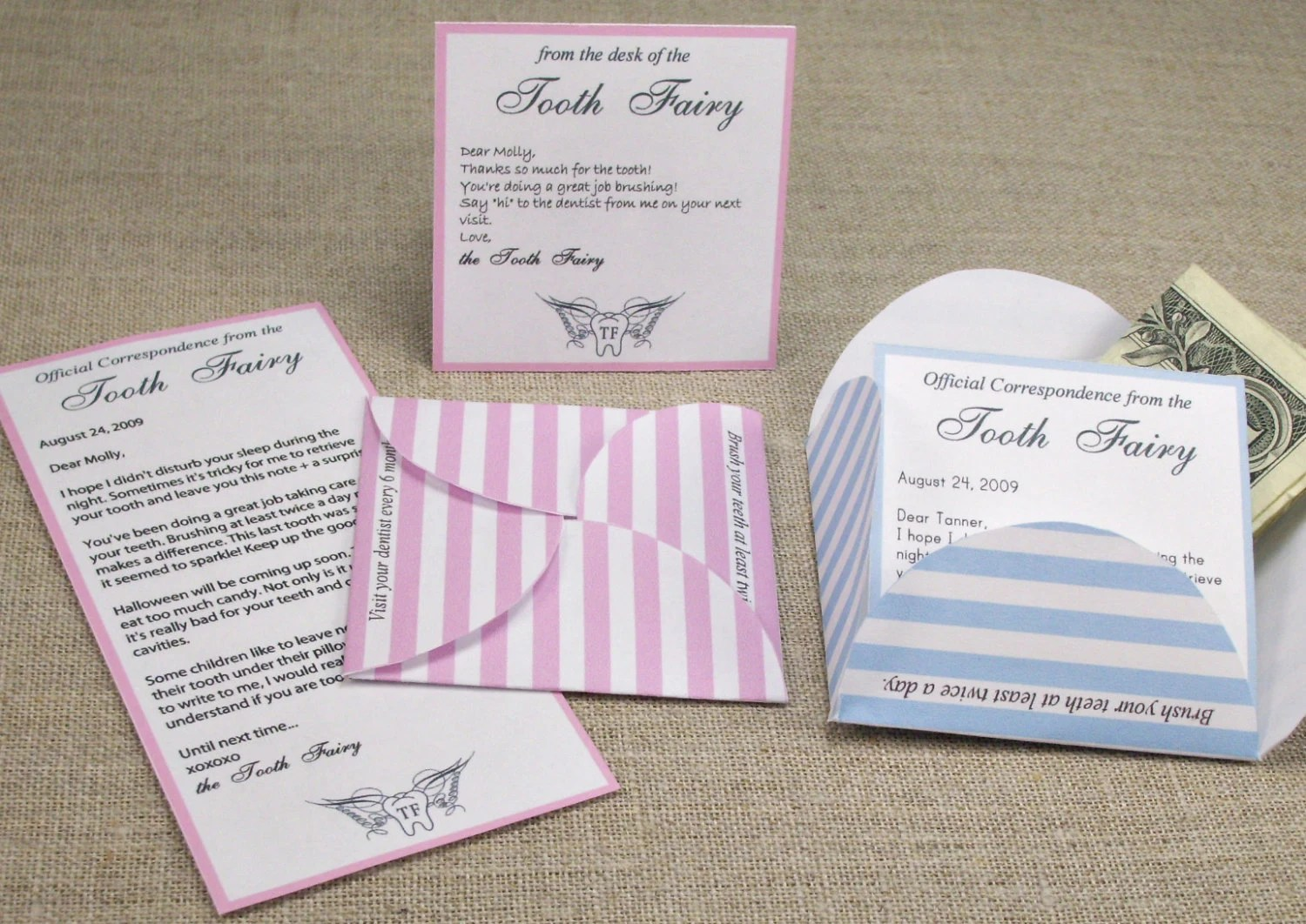 Tooth Fairy Letter Kit Printable And Editable Pdf Template