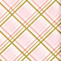 Pink and Gold Modern Cotton Fabric Brambleberry Ridge Bow Tie