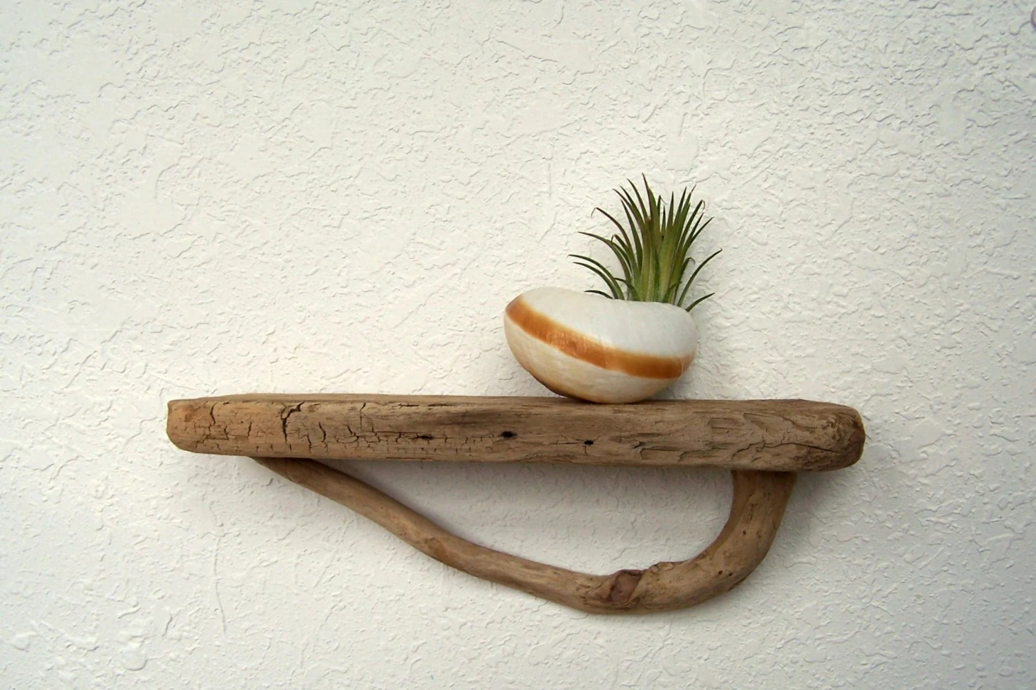 Driftwood Shelf Curved Bracket 1125 Inches Reclaimed Wood