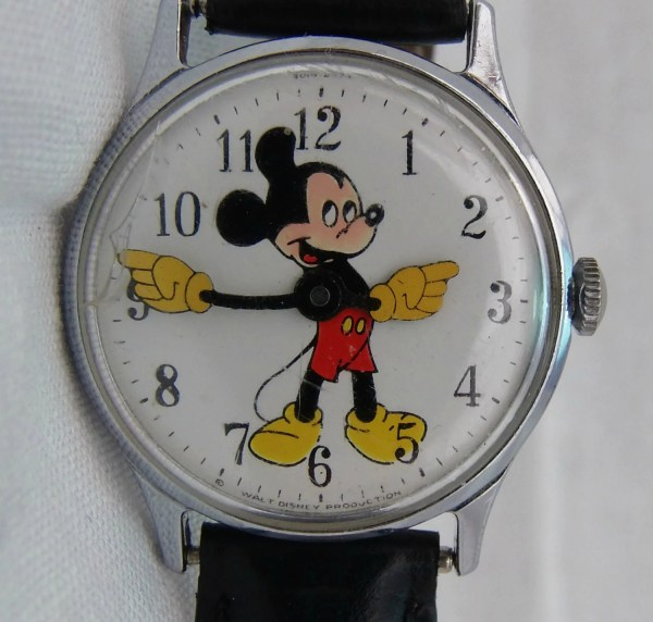Mickey Mouse 60s Vintage Watch Walt Disney Productions