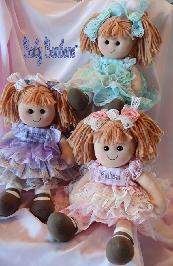Personalized Baby Rag Doll Dressed In Vintage Laceflower