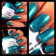 duochrome nail polish green ocean