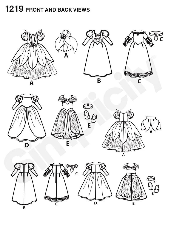 Disney Princess 18 inch Dress Pattern, 18 inch Doll