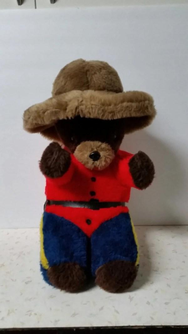 Items similar to Vintage 197039s RCMP Teddy Bear on Etsy