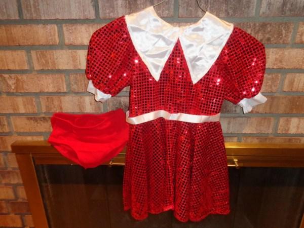 Halloween Costume Childs Little Orphan Annie Dress