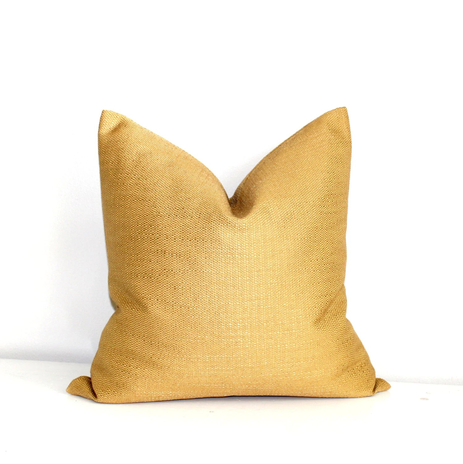 Gold Pillow Throw Pillow Cover Decorative Pillow Solid