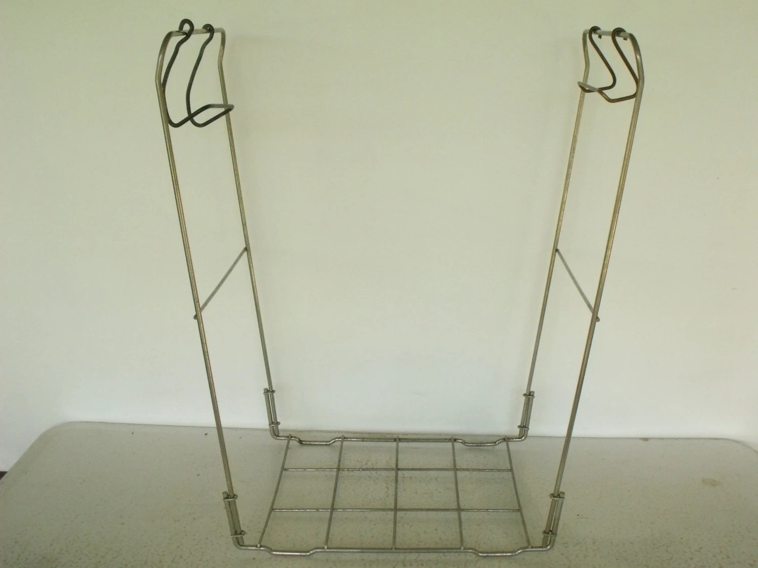 Trash Bag Holder Laundry Frame Metal Stand Recycling Folding 5