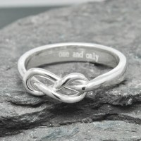 Infinity Ring Engraving Ring Best Friend Promise