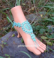 Crochet Seahorse Barefoot Sandals Beach Wedding Lace Pattern