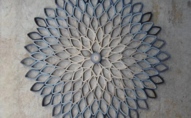 Gray Home Decor Large Round Wall Art Paper Dahlia Wall Hanging