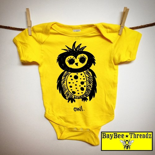 small resolution of  kids owl baby boy clothes baby clothes owl original artwork 7 colors