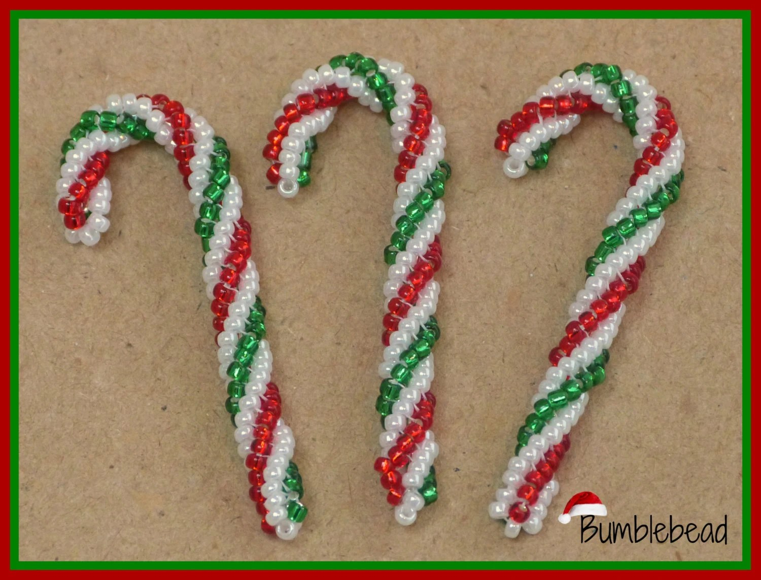 Candy Cane Tutorial A Beadweaving Pattern For The Christmas