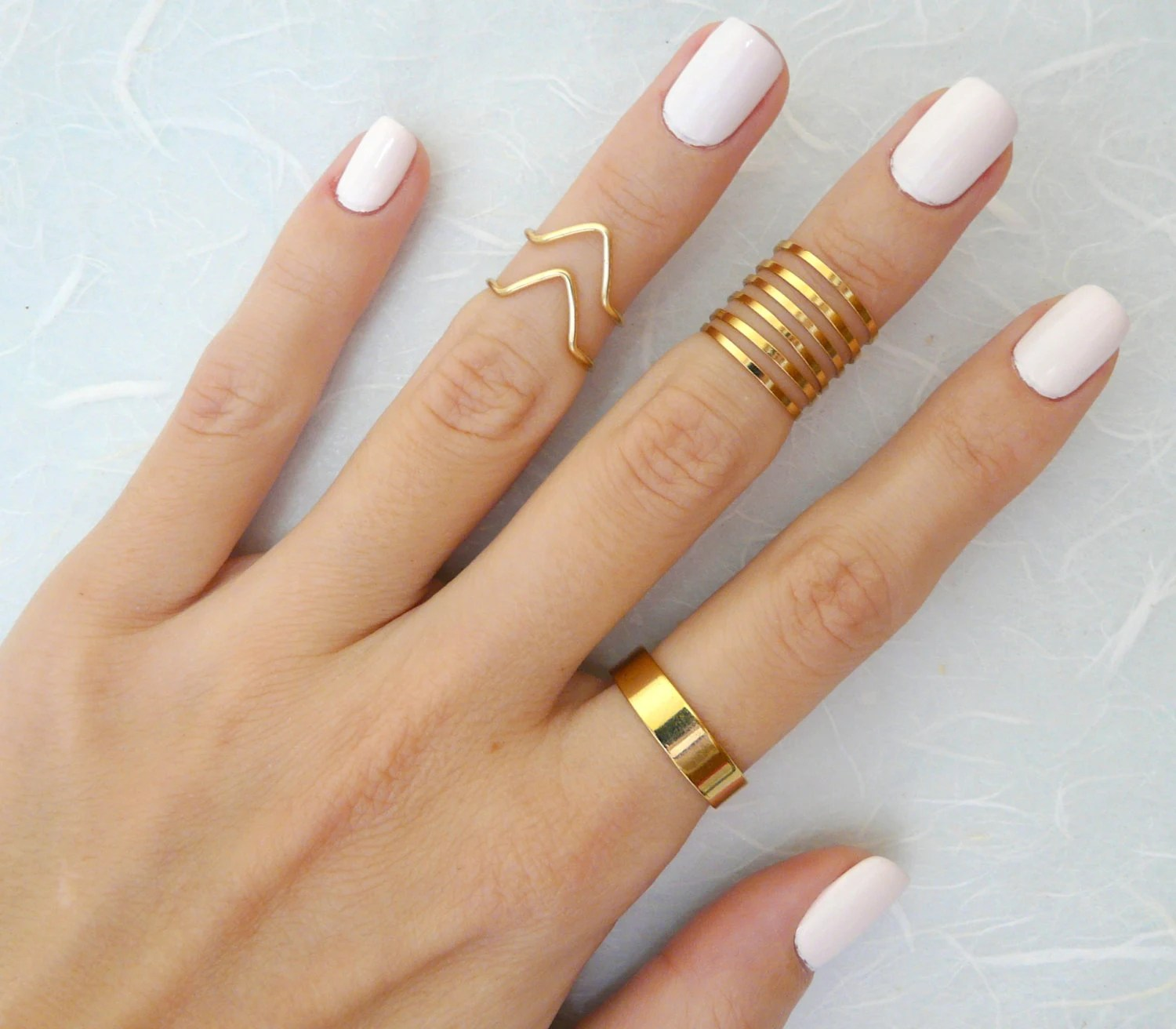 9 Above the Knuckle rings Gold knuckle ring Stacking rings