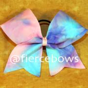 cotton candy cheer bow