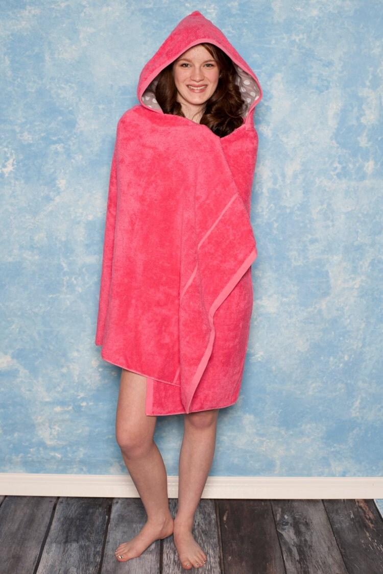 Teen bath towel large tween hooded bath towel by LilyLouLou