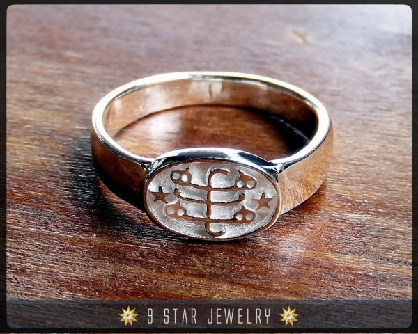 Brs3 Silver Baha' Ringstone Symbol Ring Sizes 2