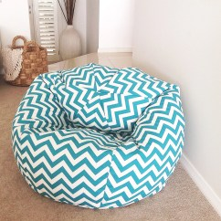 Girls Bean Bag Chairs Orange Dining Room Chair Covers Chevron Cover Adults Kids Turquoise Zig