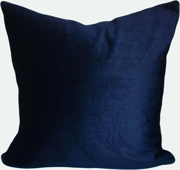 Navy Blue Velvet Throw Pillow