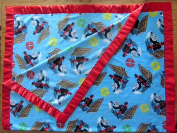 Thomas Train Fleece Toddler Blanket With Satin Edge