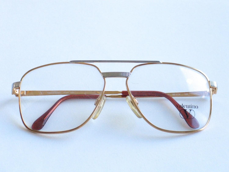 Valentino metal vintage eyeglasses frame for men. Made in ...