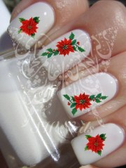 christmas xmas nail art red flower