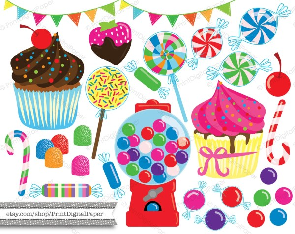 commercial candy clipart cupcakes