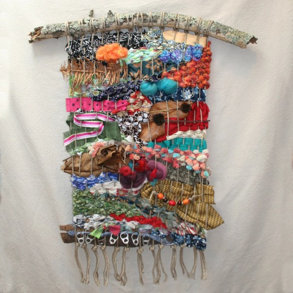 Woven Wall Hanging With Objects Weaving