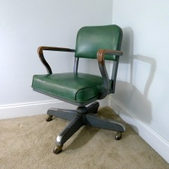 Steelcase Vintage Chair Ergonomic Measurements Green Vinyl Desk Steel