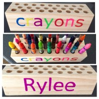 Personalized Wooden Crayon Holder from AllisAdorables on ...