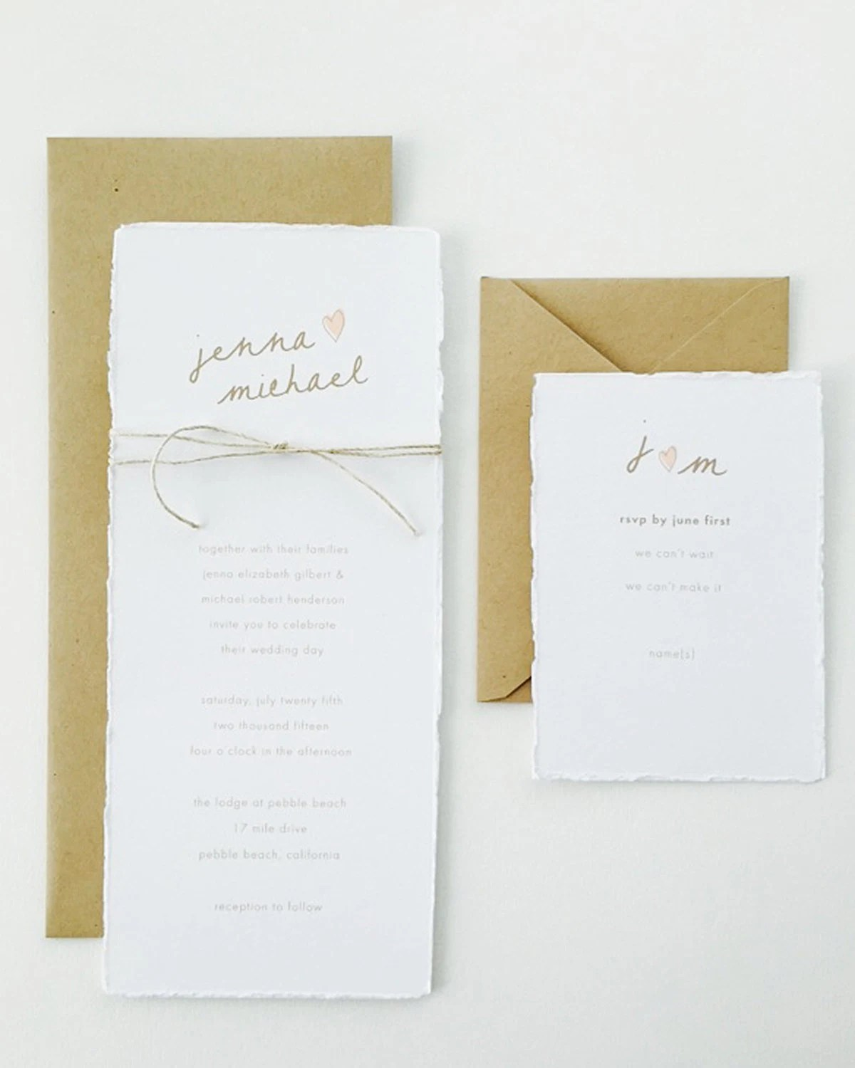 Gallery Minimalist Wedding Invitations: Jenna Wedding Invitation / Kraft Wedding Invitation