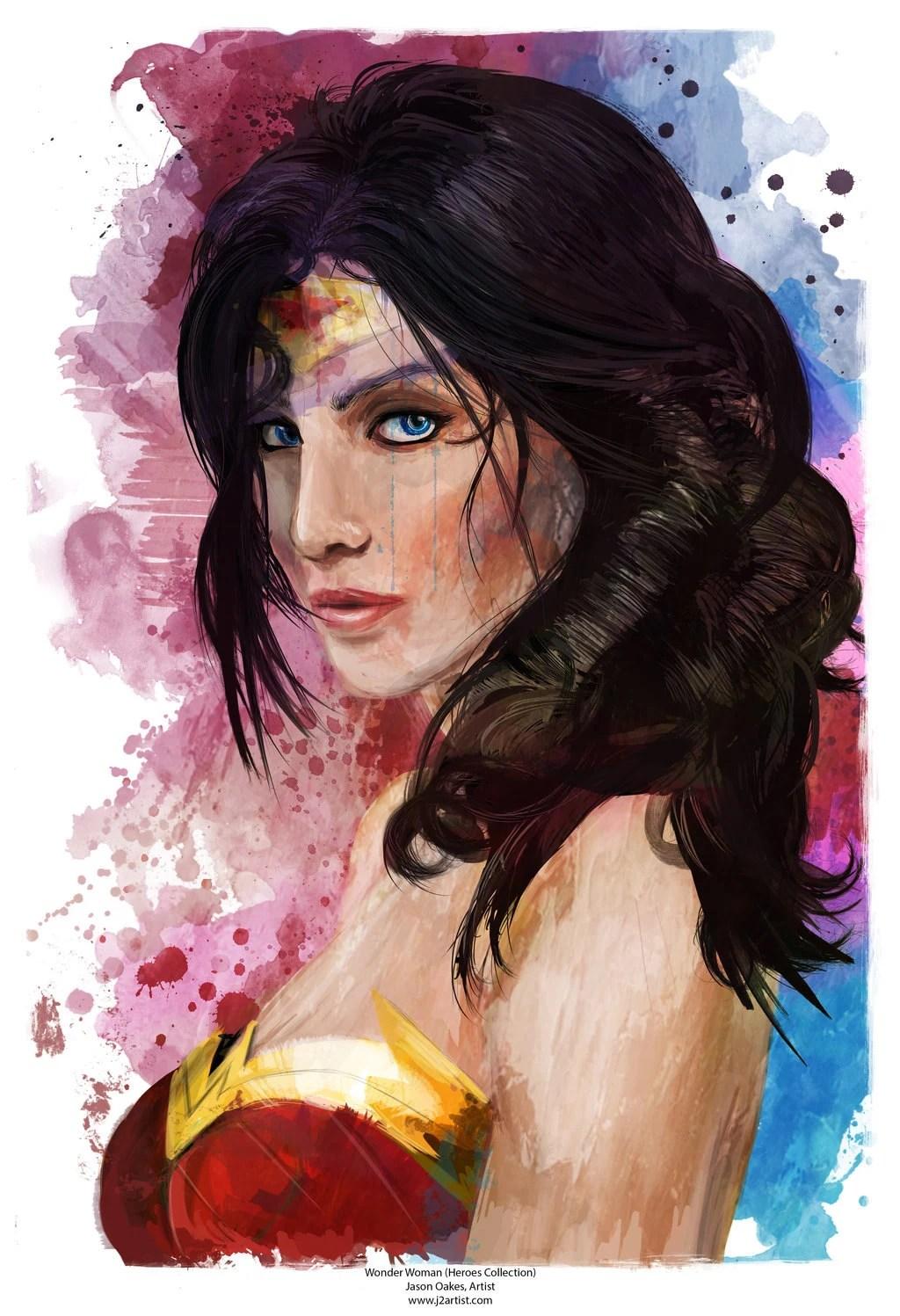 Wonder Woman Portrait Abstract Art Print 13 X 19