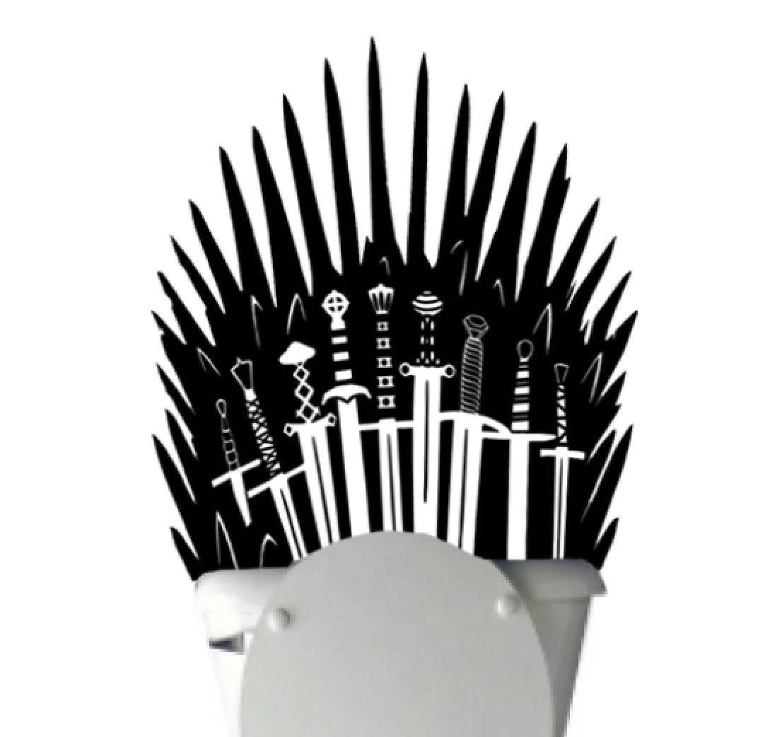game of thrones office chair hanging ebay australia iron throne toilet decal sticker parody inspired by