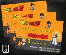 Dragon Ball Warriors Birthday Party Ubergeekdesign