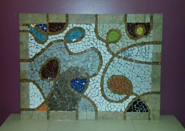 Vintage. Large Custom Abstract Mosaic Art Wall