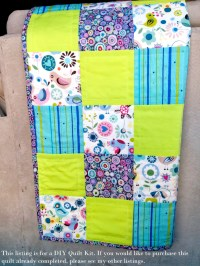 DIY Modern Baby Quilt Kit - Patchwork Quilt Kit, Quilting ...