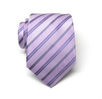 Mens Ties. Necktie Lavender and Purple Stripes Mens Tie