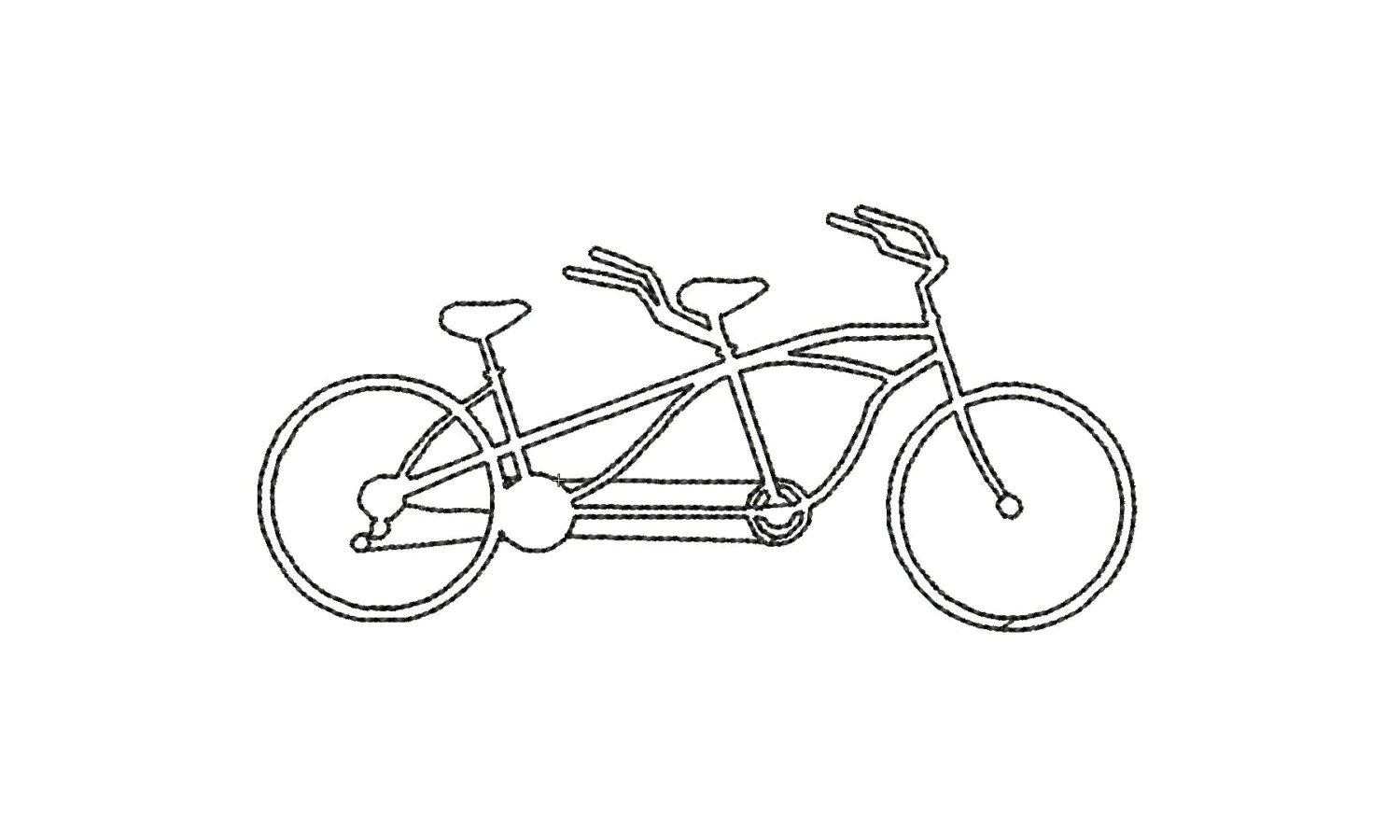 Two Seater Tandem Bicycle Machine Embroidery By