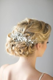 bridal hair comb beach wedding
