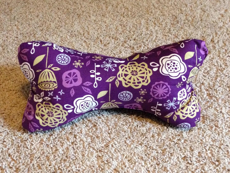 Purple Dog Bone Neck Pillow