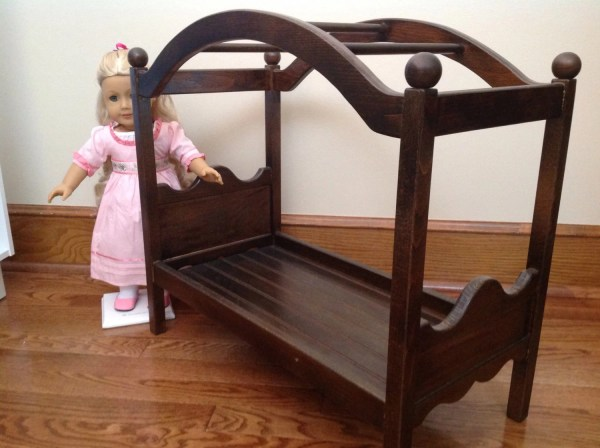 Sale: Espresso Canopy Bed for 18 in American by BedsandThreads