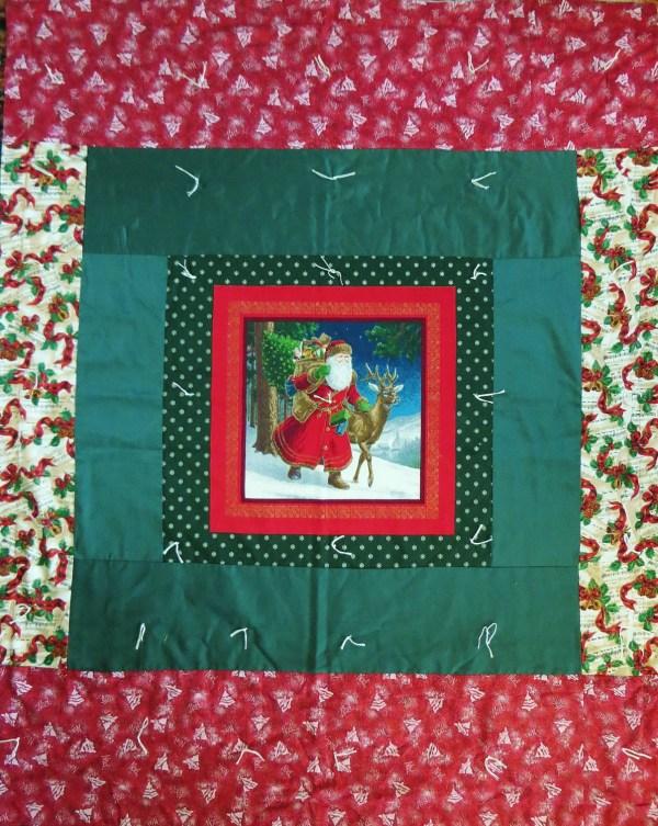 Christmas Throw Santa Quilt Holiday Wall