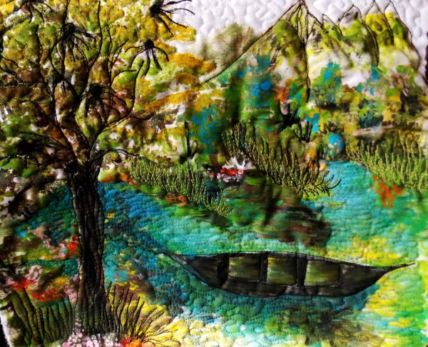 Landscape Fiber Art Contemporary Quilt Mini