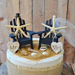 Adirondack Chair Cake Topper Folding Lounge Canadian Tire Starfish Wedding Chairs Wood