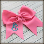 girls custom monogrammed hair bow